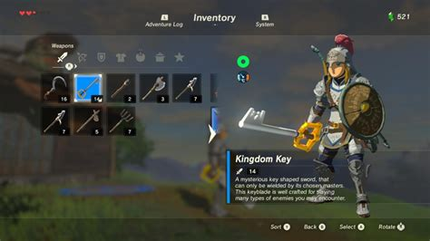 kingdom key  soldiers broadsword  ui