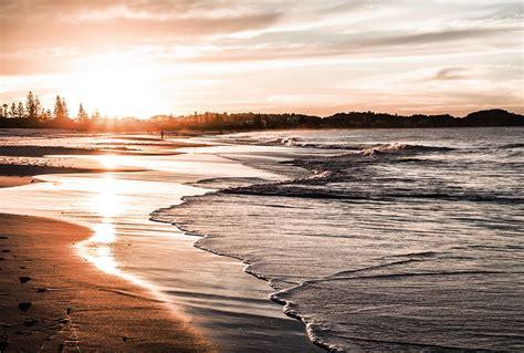 papier peint deco chambre poster mural panoramique coucher de soleil sur la mer calme