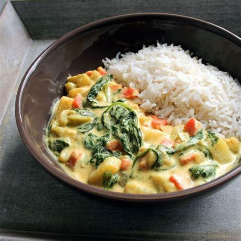 cuisine simple et saine recette curry de légumes végétalien facile rapide
