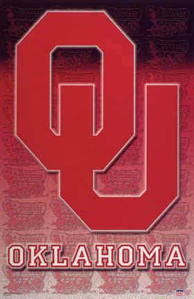 university  oklahoma sooners football team logo art print