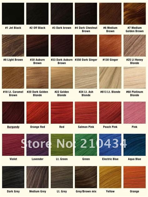 Hair Colours List by List Of Hair Colors Hair Colors Idea In 2019