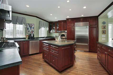 Kitchen Paint Colors With Light Cherry Cabinets by 43 Kitchens With Extensive Wood Throughout Green