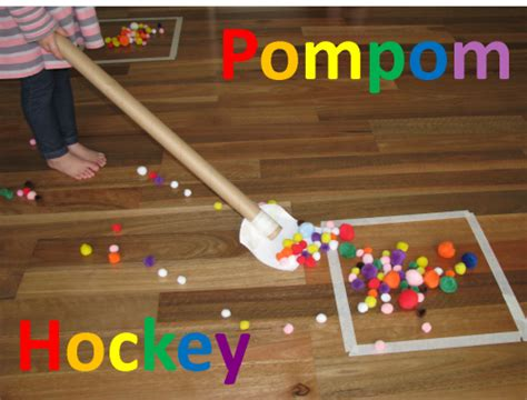 sports themed learning how wee learn 724 | Preschool sports theme pompom hockey