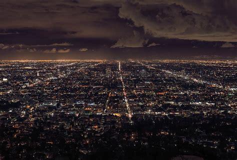 chambre etats unis deco poster de nuit d 39 une vue sur la ville de los angeles
