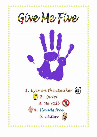 Give Five Poster Resource Teaching Tes Resources
