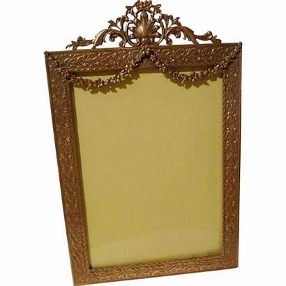 Frame Antique Glass Convex French
