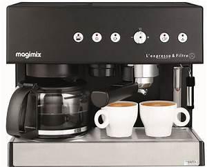 Dosage Café Filtre : machine expresso filtre noire magimix pour espresso et caf filtre ~ Voncanada.com Idées de Décoration