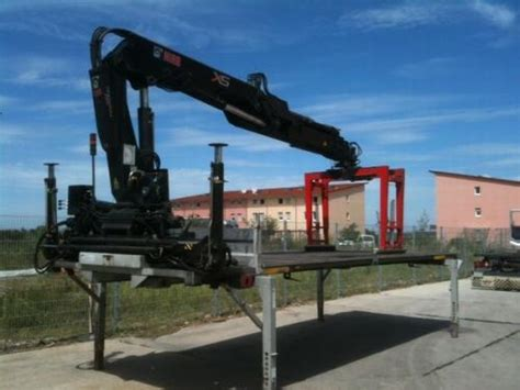rückewagen mit kran für kleintraktor hiab xs 144 d 3 hiduo auf wechselbr 195 188 cke