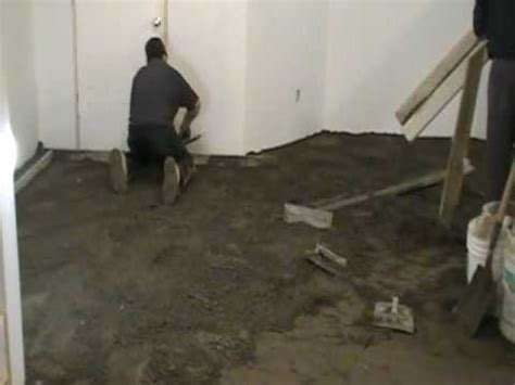 How to Level a Floor with Dry Pack Concrete (4 of 9)   YouTube