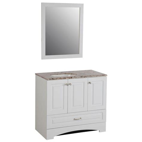 glacier bay bathroom cabinets glacier bay stafford 36 in vanity in white and stone