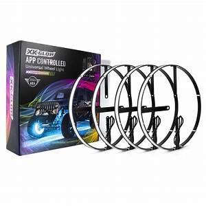 4pc 15 U0026quot  Wheel Ring Light Kit Xkchrome App Controlled W