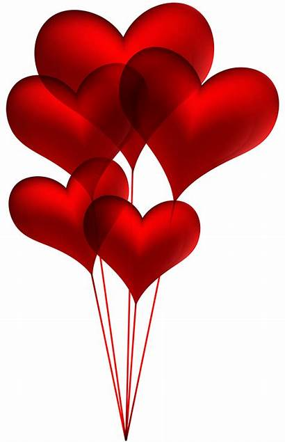 Balloons Valentine Clipart Heart Transparent Clip Clipartmag