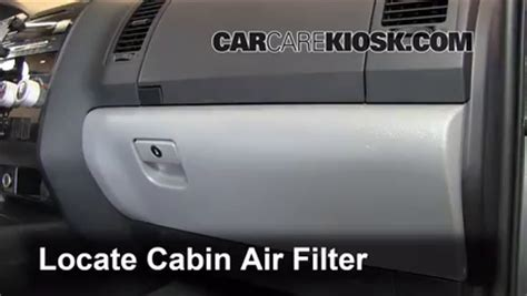 cabin filter replacement toyota sequoia