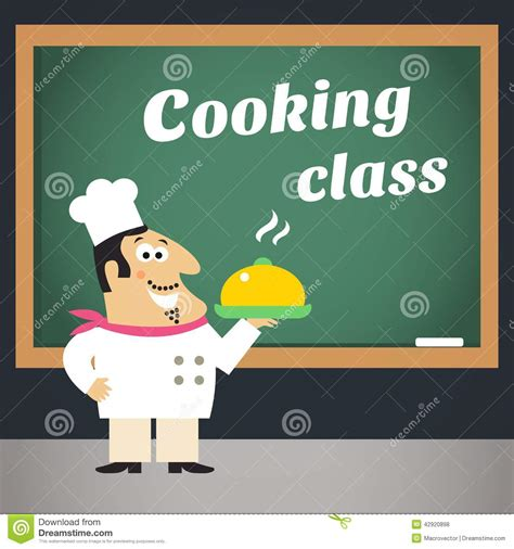 affiche atelier cuisine cooking class advertising poster stock vector image