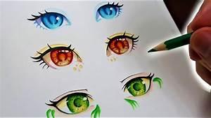 Dessin Facile Yeux : comment dessiner des yeux d 39 anime techniques faciles youtube ~ Melissatoandfro.com Idées de Décoration