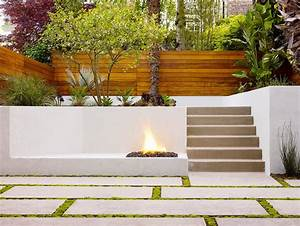 Stucco fence landscape southwestern with beige exterior for White garden walls