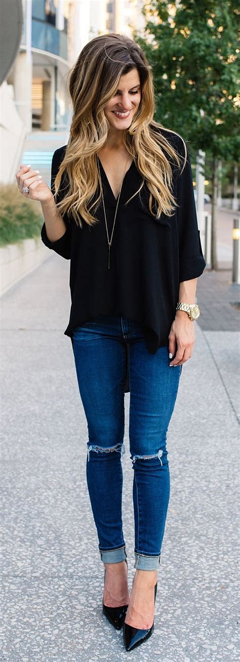 Night Out Outfit With Jeans - Oasis amor Fashion