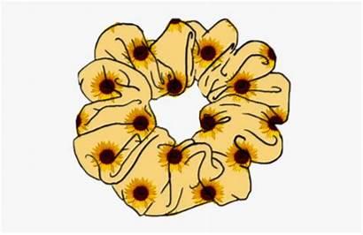 Scrunchie Clipart Scrunchies Stickers Sunflower Aesthetic Scrunchy