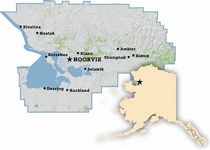 Buckland Noorvik Selawik Ambler Village Map Borough