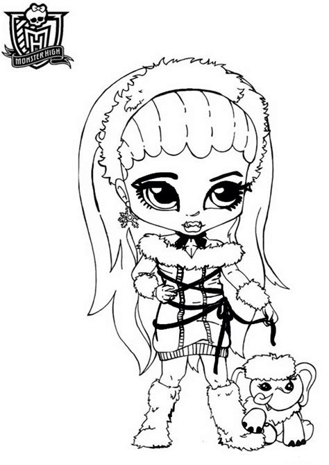 monster high abbey coloring pages getcoloringpagescom