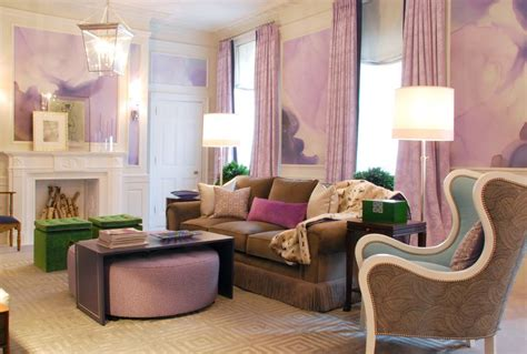 purple green living room purple pink and green living art interiors by color