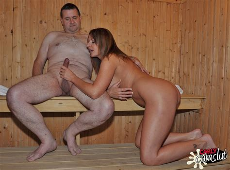 Carly Cum Slut Gets Very Horny And Wet In The Sauna As She