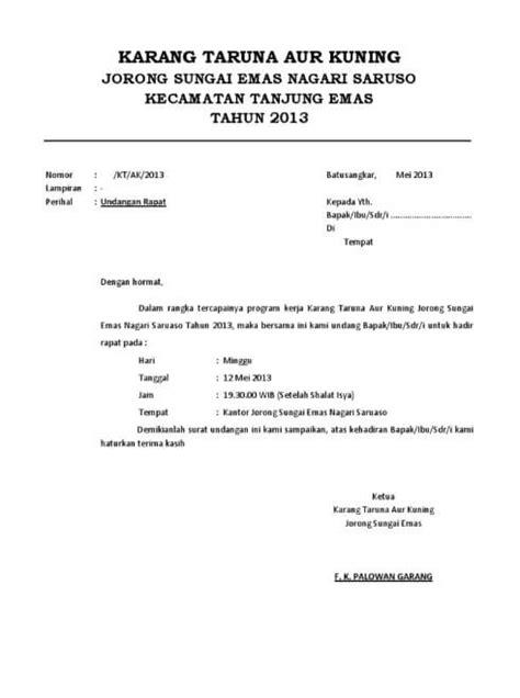 Contoh Rapat Dinas by 10 Contoh Surat Undangan Rapat Terlengkap Contohsuratin