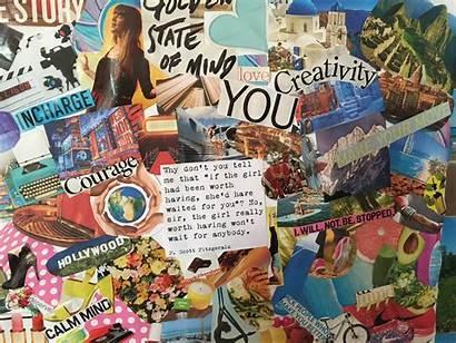 Vision Board Teens Making Goals Dreams Dream