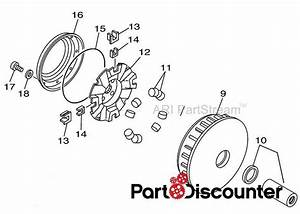 New Yamaha Grizzly 700 4x4 Primary Clutch Sheave Assembly Fits 2007