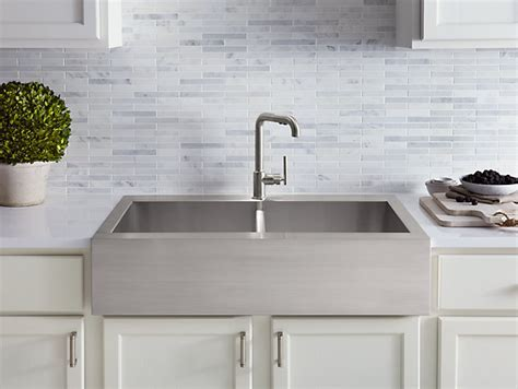K 3944 1   Vault Top Mount Kitchen Sink with Single Faucet