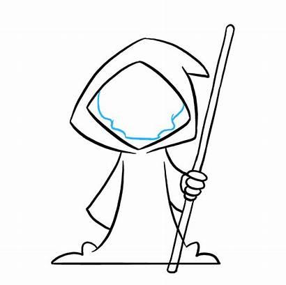 Reaper Grim Drawing Draw Drawings Cartoon Line