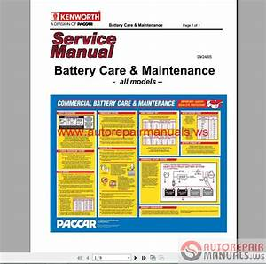 Auto Repair Manuals  Kenworth Truck Service Manual  Owner Manual  Diagram All