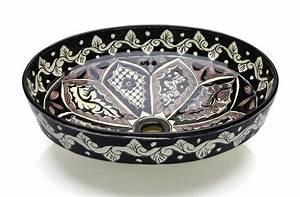 Bemalte Keramik Waschbecken : aufsatzwaschbecken aus mexiko flache schale ~ Markanthonyermac.com Haus und Dekorationen