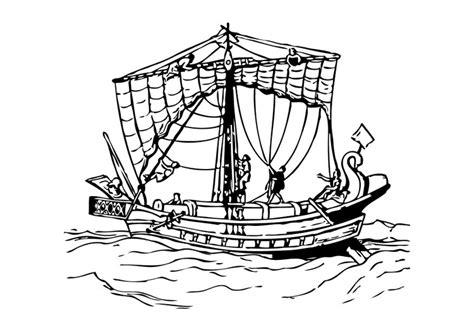 malvorlage roemisches boot kostenlose ausmalbilder zum