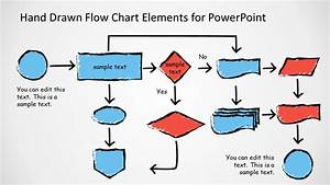 awesome hand drawn flow chart diagram for powerpoint With flowchart templates for powerpoint free