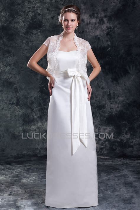 sleeveless satin sheathcolumn sweetheart wedding dresses
