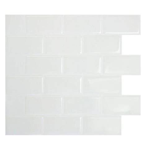 smart tiles home depot smart tiles 10 96 in x 9 75 in subway mosaic decorative