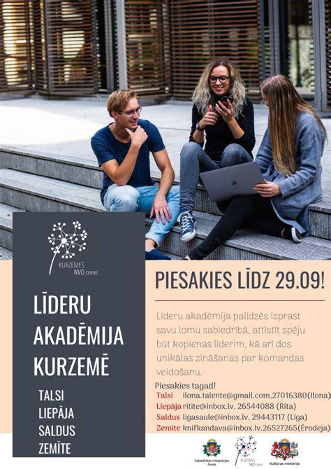 Kurzemes NVO centrs aicina piedalīties Līderu akadēmijā - Kurzemes NVO atbalsta centrs