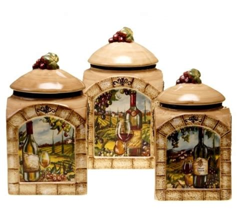 Wine Kitchen Canisters by Decorative Kitchen Canisters Sets Decor