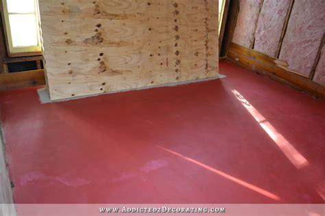 hardwood flooring vapor barrier breakfast room progress plywood subfloor installed over concrete slab for nail down solid