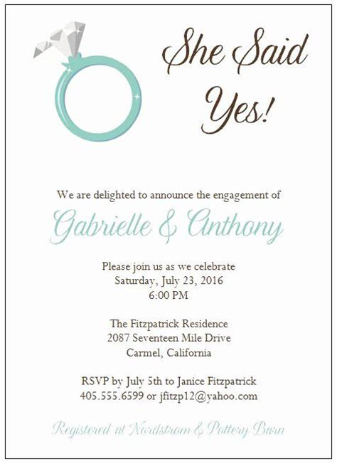 engagement party invitation template    images