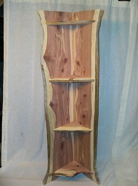 edge cedar corner shelf httpswwwetsycomlisting