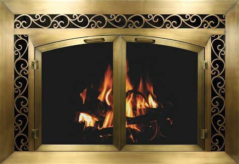 stoll fireplace  glass  mesh doors  hanging mesh