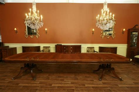 extra large  long mahogany dining room table