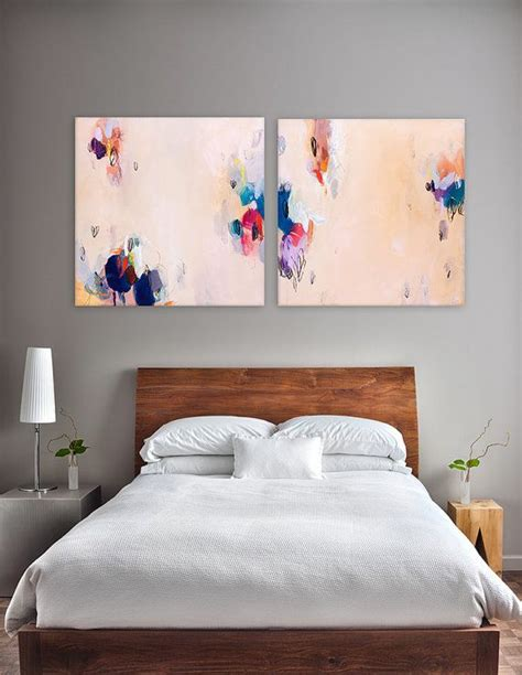 Bedroom Paintings by Large Abstract Painting 48x24 Quot Light Melon Yellow