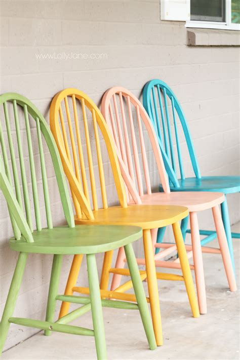 colored kitchen chairs american chalky paint tutorial 2327