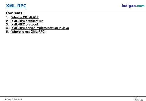 Xml-rpc (xml Remote Procedure Call