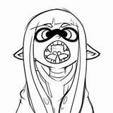 Splatoon Inkling Squid Coloring Developing Migrate sketch template