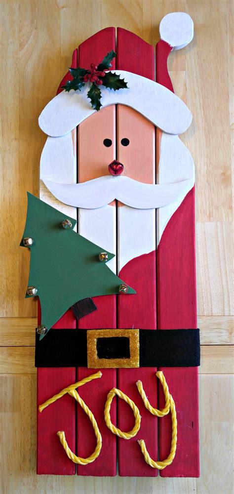 santa claus wall hanging diy reclaimed wood santa decoration