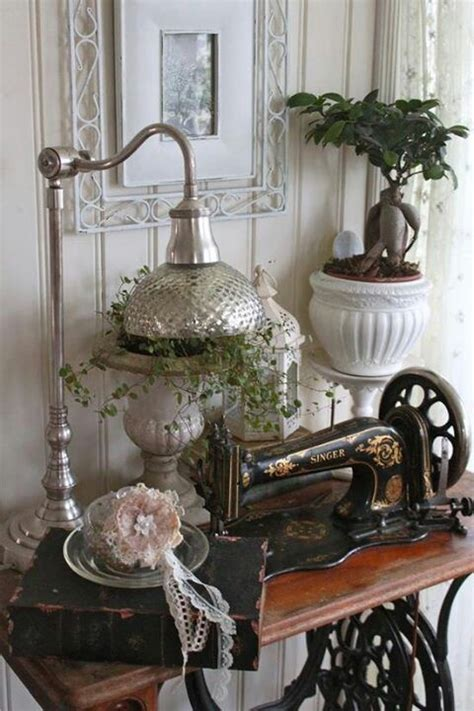 shabby chic sewing shabby chic sewing machine for the home pinterest